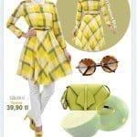 Alvina 4561-pegasus sarı bluz