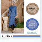 Alvina kış outlet mavi trenç