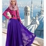 Muslima wear 2014 yeni sezon fuşya ceket