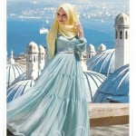 Muslima wear 2014 yeni sezon mint şifon elbise