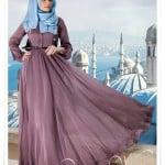 Muslima wear 2014 yeni sezon vizon elbise
