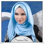 Muslima wear bebek mavisi tesettür şal