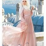 Muslima wear yeni sezon pudra şifon elbise