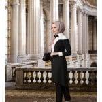 Muslima wear yeni sezon siyah beyaz frak tunik