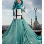 Muslima wear yeni sezon turkuaz şifon etek