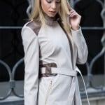 Nihle Giyim 2015 bej kuşaklı trench