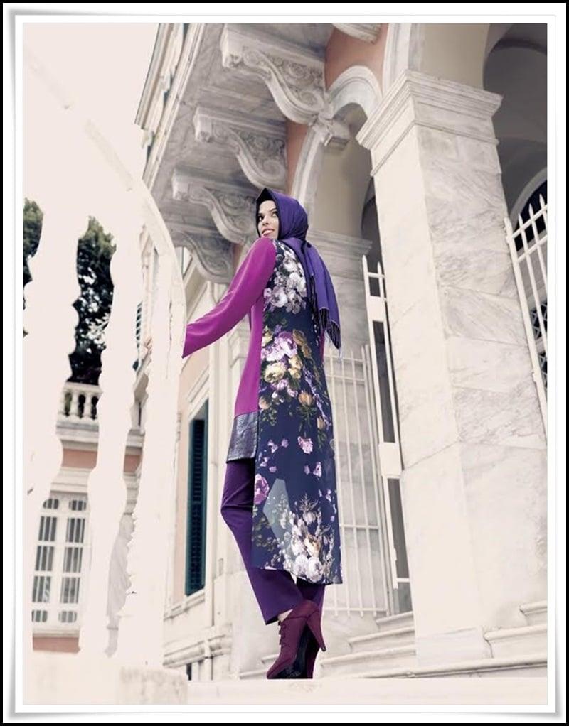 Tekbir Giyim 2015 çiçek desenli tunik