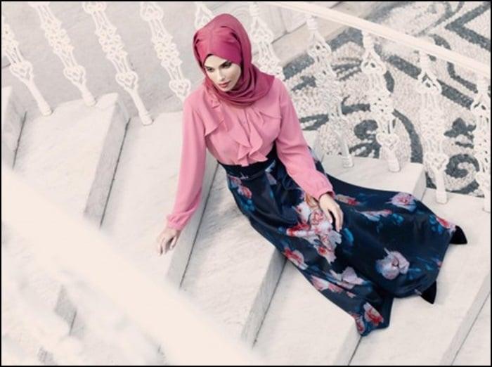 Tekbir-Giyim-2015 kış çiçek desenli etek modelleri