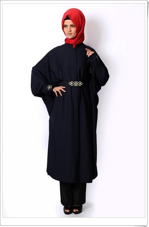 Tozlu giyim lacivert yarasa kol ferace-120 TL