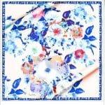 pierre cardin 2015 mavi çiçekli eşarp