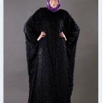 Feradje 2015 siyah kışlık ferace