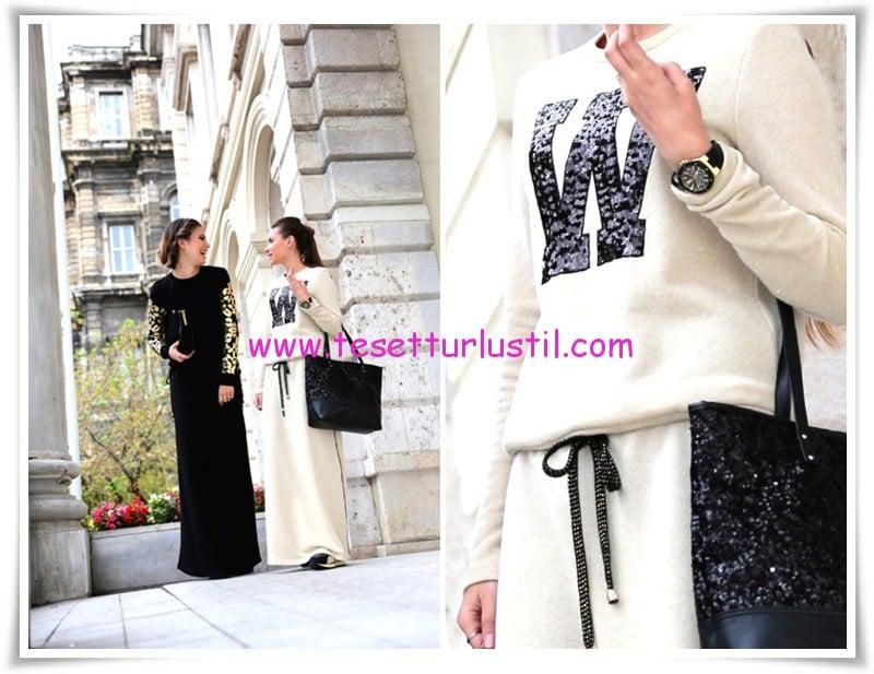 Latifa-2015-Kış-Yeni Sezon Kapalı Elbise Modelleri