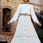 Pınar Şems 2015 önü düğmeli krem etek-135 TL