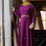 Pınar Şems 2015 işlemeli mor elbise-245 TL