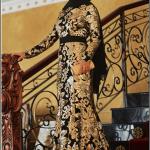 Pınar Şems 2015 siyah boydan saraylı kuyruklu abiye elbise-595 TL
