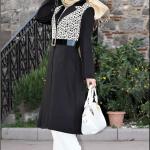 Pınar Şems dantelli siyah kısa kap-285 TL