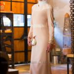 Tavin 2015 pudra-ekru tesettür abiye elbise-220 TL