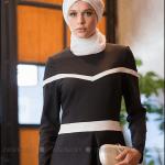 Tavin 2015 yeni sezon siyah peplum elbise-190 TL