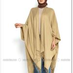 Camel düz renkli panço-35 TL