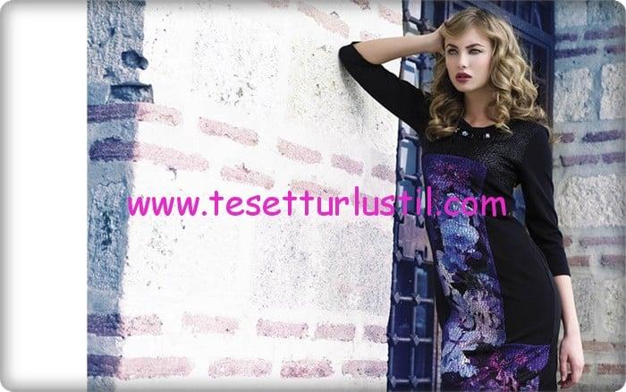 Etrucci 2015 kapalı uzun elbise modelleri