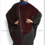 Kırçıllı bordo panço-Orhan Giyim-120 TL