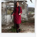 Lucille Bordo Tunik-Fuşya Brokar Pantolon
