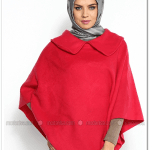 Moda Nisa -zernişan-kırmızı pelerin -panço-30 tl