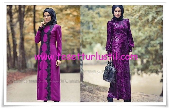 Mustafa Dikmen 2015 kadife tesettür elbise modelleri