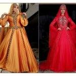 Osmanlı Moda 2015 işlemeli nişanlık modelleri
