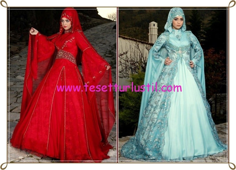 Osmanlı Moda 2015 tesettür nişanlık modelleri
