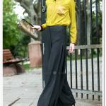 Paçası bol antrasit pantolon-Mood-90 TL