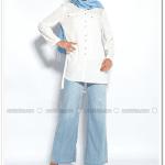 Tencel bol paça pantolon-açık mavi-Neways-55 TL