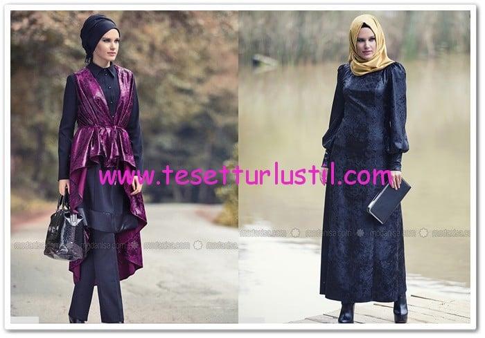 Kadife elbise ve kadife yelek modelleri-2015