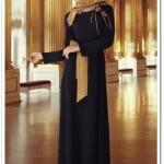 butik-simge-lacivert krep uzun elbise-190 TL