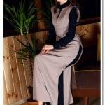 ArmaCool yaka detaylı uzun vizon elbise-100 TL