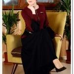 Tozlu giyim bordo fermuarlı uzun elbise-100 TL