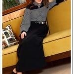 Tozlu giyim siyah-kemik kapalı elbise-100 TL