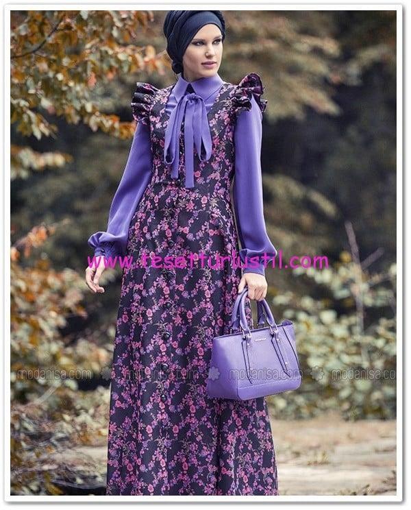 mor çiçekli jile elbise-Mustafa Dikmen-200 TL