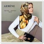 Armine 2015 yeni sezon siyah zincir saplı kol çantası