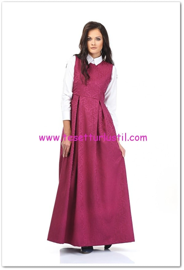 Kübra-Biriktir-fuşya-romantik-jile-elbise-195 TL