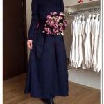 Kubra-biriktir-lacivert-brokar tesettür-elbise-175 TL