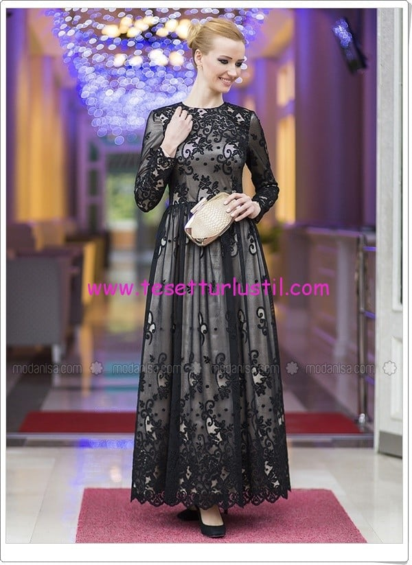 dantel-elbise-siyah-tuay-karaca