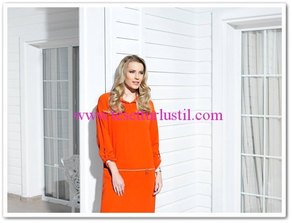 Puane 2015 yazlık turuncu tunik