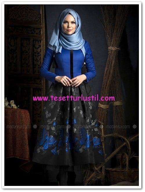 jakarli-kelebek-etek-siyah-muslima-wear-230 TL