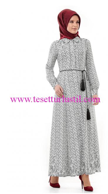 Doque 2015 İlkbahar Yaz Koleksiyonu tesettür elbise modelleri