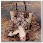 tekbir 2015 yaz çiçek desenli ayakkabı-çanta