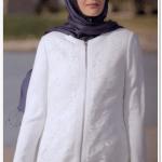 Alvina 2015 beyaz fermuarlı yazlık ferace