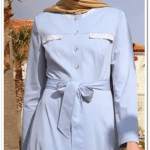 Alvina 2015 mavi kuşaklı elbise