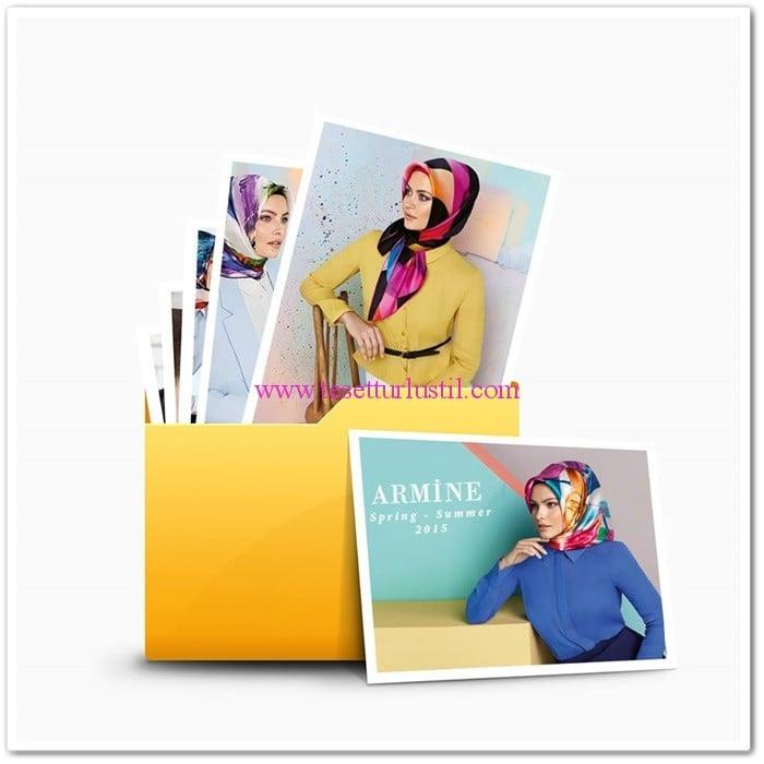 Armine 2015 en güzel eşarp modelleri