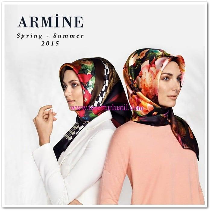 Armine 2015 ilkbahar-yaz eşarp modelleri